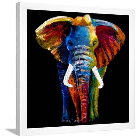 Great Elephant Framed Print Wall Art By Clara Summer