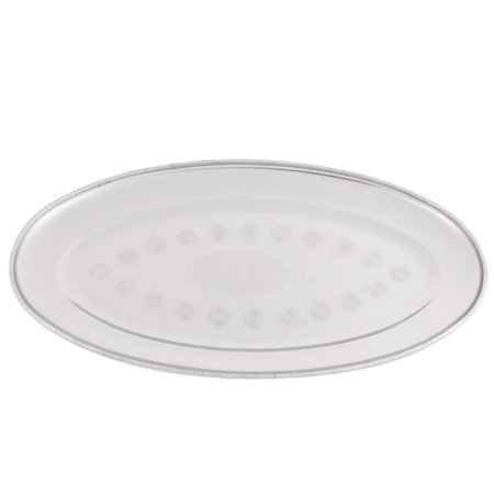 Unique Bargains Kitchen Stainless Steel Oval Shape Table Dinner Dish Plate 30cm Length 3PCS