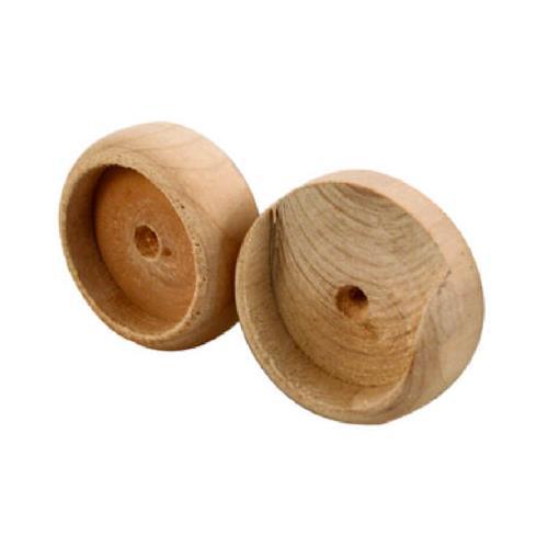 Slide-Co 161898 Closet Pole Socket, 1-3/8-Inch Pole, Wood