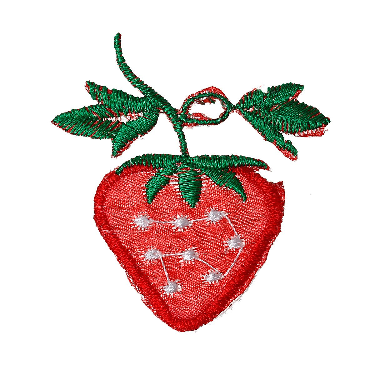 Sexy Sparkles 10 Pcs Strawberry Embroidered Cloth Iron on Patches Appliques 5.4cm [Kitchen]