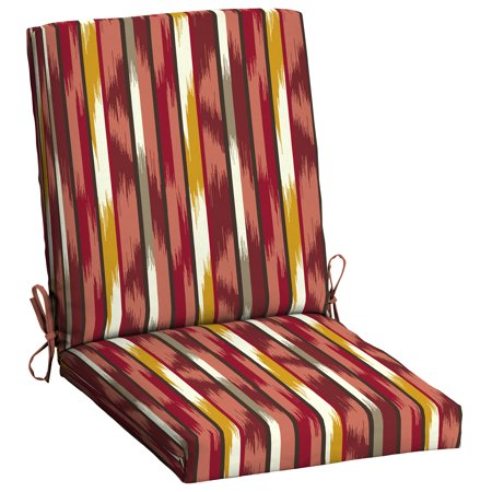(Mainstays Ombre Stripe 1 Piece Outdoor Dining Chair Cushion)