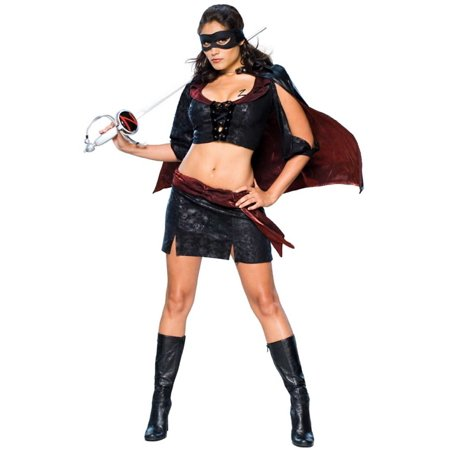 Women's  Lady Zorro Black Bandit Costume - Zorro Dress