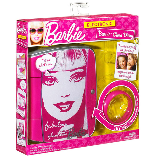 Mattel Barbie Glam Diary Electronic Secret Journal