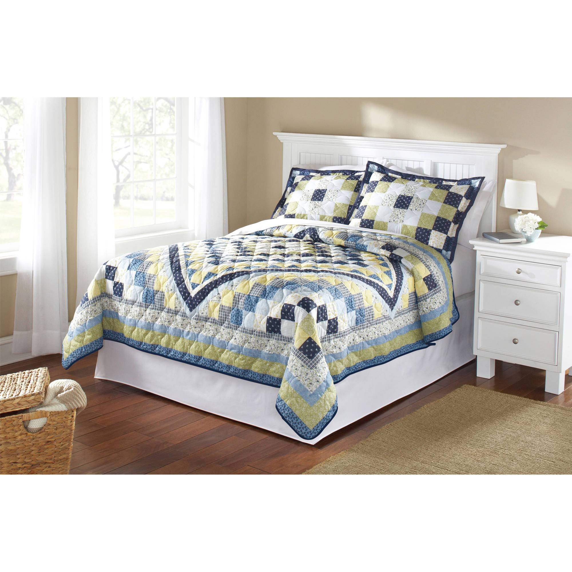 Mainstays Blue Patchwork Quilt