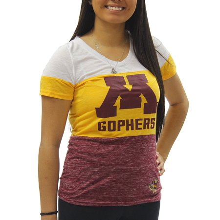 Creative Apparel Women's NCAA Minnesota Golden Gophers Tri Color T-Shirt Tee Minnesota Golden Gophers College Baseball