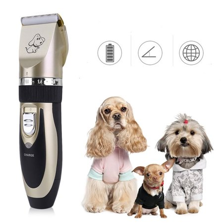 Pet Hair Grooming Cutter Professional Cordless Pet Grooming Clippers Kit Rechargeable Pet Cat Dog Hair Trimmers With 4 Combs And Cleaning Brush