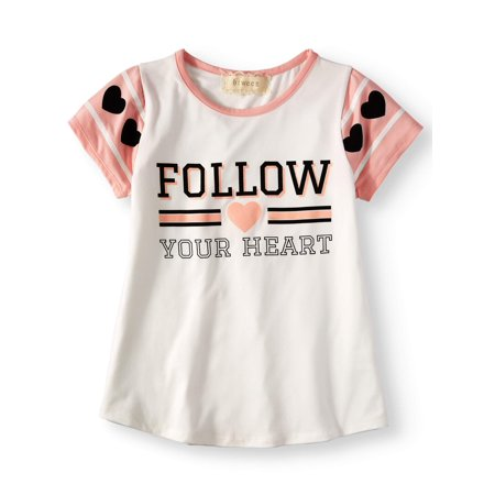 - Big Girls' Follow Your Heart Varsity Graphic Tee