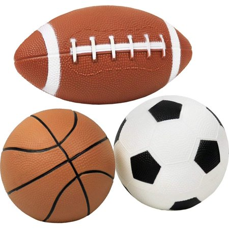 Click N' Play Pack of 3 Mini Sports Pack Ball, Football, Soccer ball and Basketball.](Univ Of Miami Football)