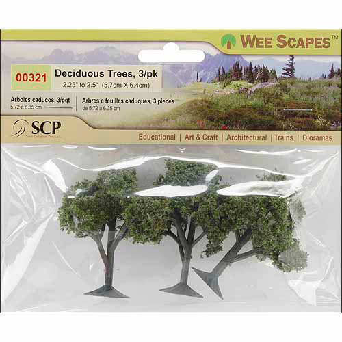 "Deciduous Trees 2.25"" To 2.5"" 3/Pkg-"