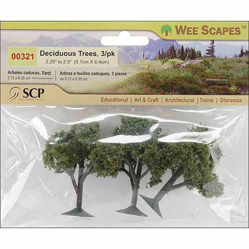 """SCP Deciduous Trees, 2.25"""" To 2.5"""", 3/pkg"""