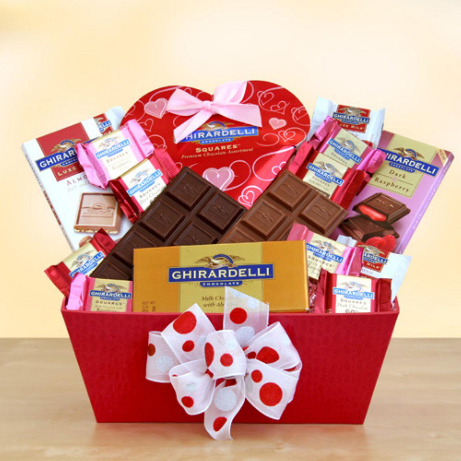 Ghirardelli Sweet Valentine Inspirations Gift Basket