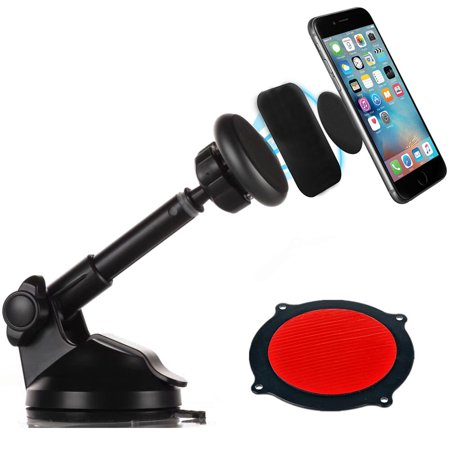 - 360 Rotate Windshield Dashboard Suction Cup Magnetic Car Mount Cell Phone Holder