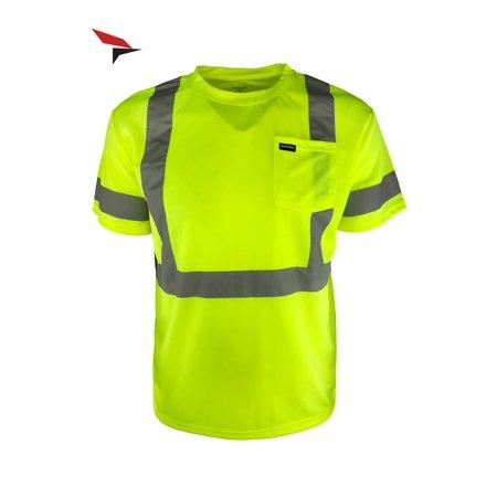 Woodpecker Workwear Reflective Safety Pocket Short Sleeve Hi Vis T-Shirt