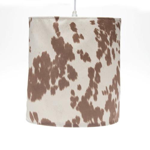 Zoomie Kids Hanging 14'' Fabric Drum Pendant Shade