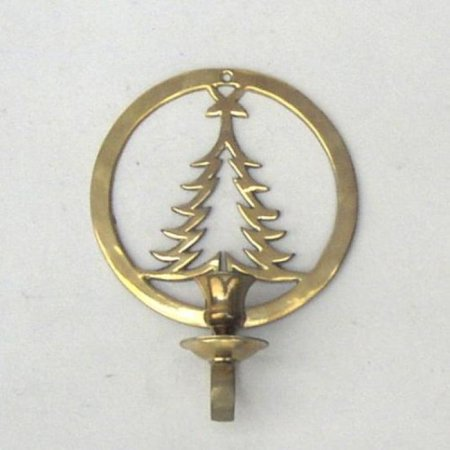 India Overseas Trading BR22371 - Brass Christmas Tree Wall Candle - India Tree India Pastries