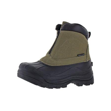 Revelstoke Mens Halifax Faux Suede Waterproof Snow Boots