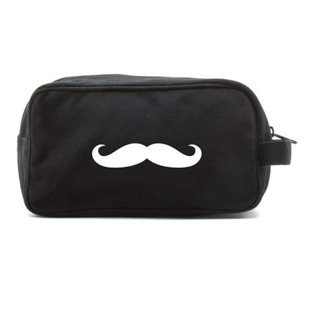 Mustache Canvas Canvas Dual Two Compartment Travel Toiletry Dopp Kit Bag](Italian Mustache)