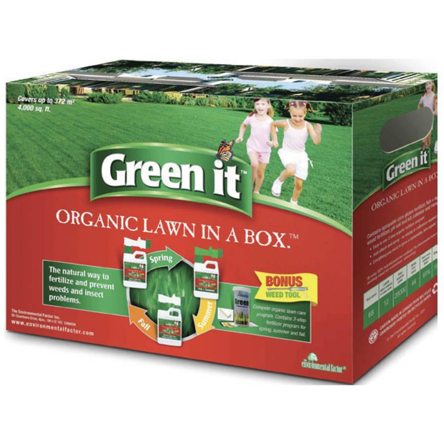 Green It 4002700 4000 Sq Ft Organic Lawn In A Box