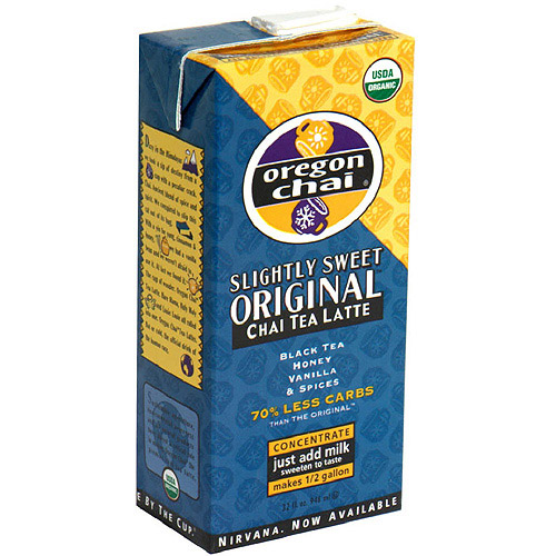 Oregon Chai Slightly Sweet Original Chai Tea, 32 oz (Pack of 6)