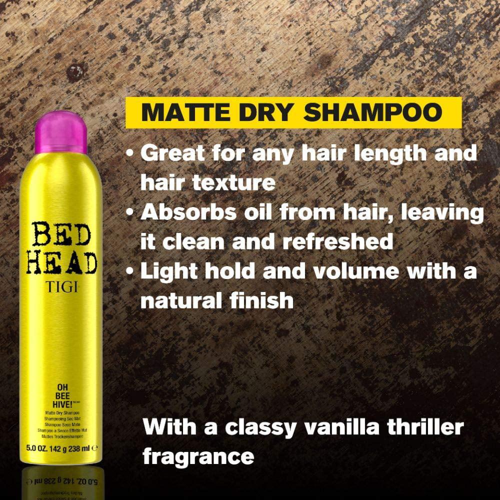 Tigi Bed Head Matte Dry Shampoo For Women Oh Bee Hive 5 Ounce Walmart Com Walmart Com