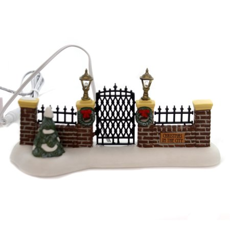 Department 56 Accessory VILLAGE GATE Porcelain Christmas In The City (Village Gate Accessory)