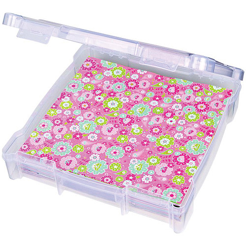 ArtBin 6912AB Essentials Storage Box, 14.125 by 13.625 by 3-Inch, Translucent Multi-Colored