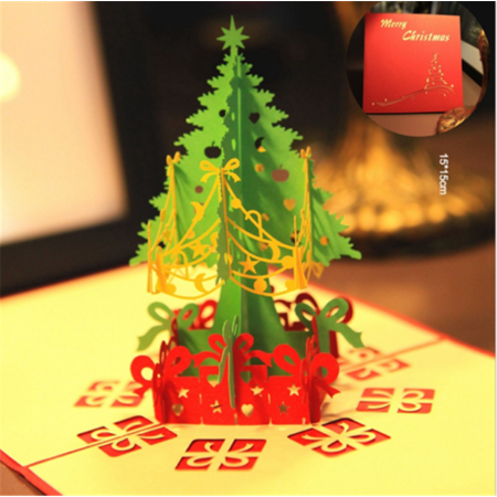 3D Pop Up Paper Card Christmas Tree Xmas Greeting Holiday Lovely Birthday Gift 3d Pop Up Christmas Cards