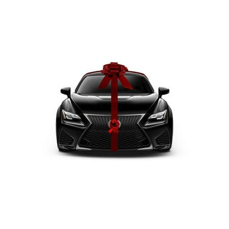 Giant Bows (Giant Metallic Red Car Bow Ribbon New Car Gift Wrap Kit Decoration Christmas)