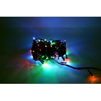 Perfect Holiday - 100 LED Green Wire String Light w/ connector - Multicolor