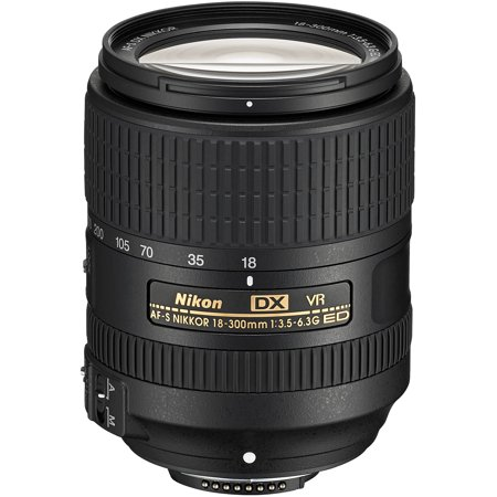 Nikon 18-300mm f/3.5-6.3G VR DX ED AF-S Nikkor-Zoom (Best Wildlife Lens For Nikon D500)