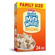 Kellogg's Frosted Mini-Wheats Breakfast Cereal, Original, Family Size, 24 Oz