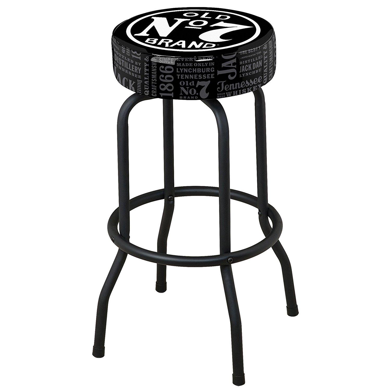 Jack Daniel's Repeat Swivel Bar Stool - Black