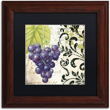"Trademark Fine Art ""Les Fruits Jardin II"" Canvas Art by Color Bakery Black Matte, Wood Frame"
