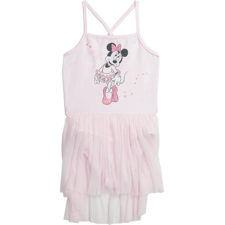 Disney Princess Toddler Girls' Ballet Minnie Mouse Pink Camisole Dress (3T) - Minnie Mouse First Birthday Dress