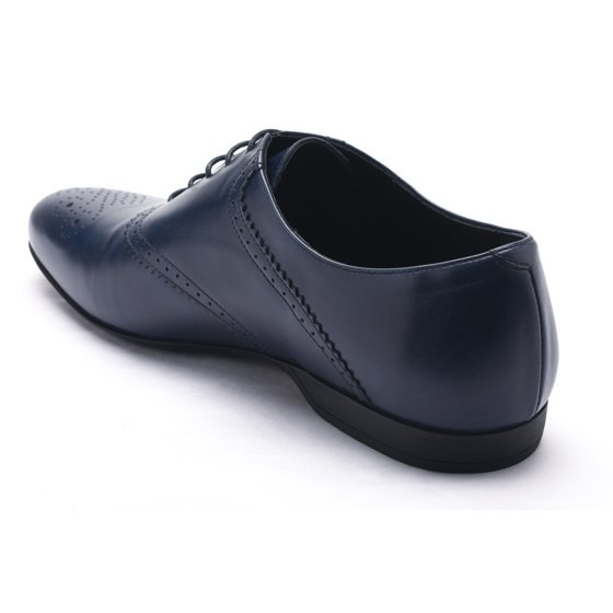 8bc43ad3b01f2c Versace - Versace Men s Leather Oxford Lace-Up Dress Shoes Dark Blue ...