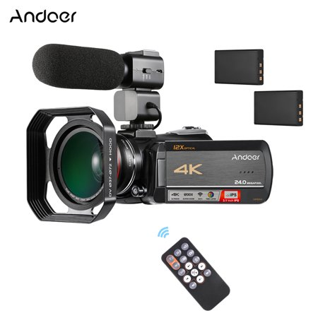 Andoer AC5 4K UHD 24MP Digital Video Camera Camcorder Recorder DV 3.1 Inch IPS Touchscreen 12X Optical Zoom Time-Lapse Face Detection Anti-shake WiFi - Touch Screen Digital Camera Reviews