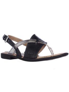 2c3fdde3421c Product Image Womens B.O.C. Born Lowery Slingback Flat Sandals -  Black Pewter Combo