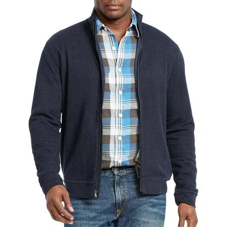 983e9a2985a POLO RALPH LAUREN - Polo Ralph Lauren Big   Tall Full Zip Double Knit  Sweater Navy Blue 3XB - Walmart.com