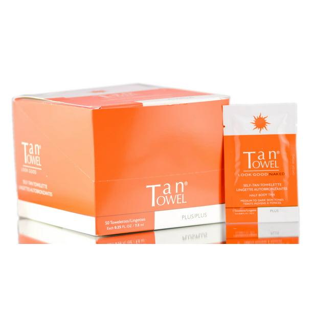 Tan Towel - Tan Towel Self Tan Towelette Half Body 10 Pack
