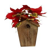 Wald Imports Rustic Wood Birdhouse Planter - Set of 4