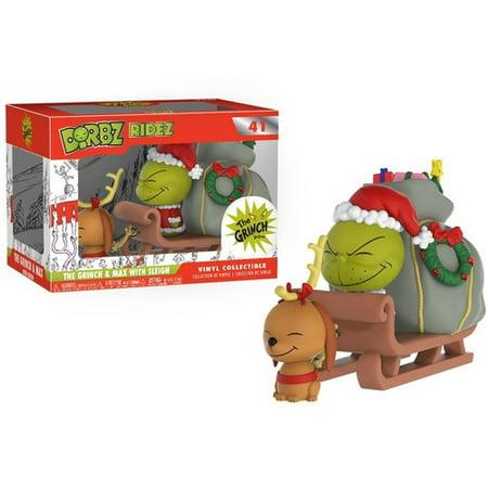 FUNKO DORBZ RIDEZ: Dr. Seuss - The Grinch & Max on - Grinch Head