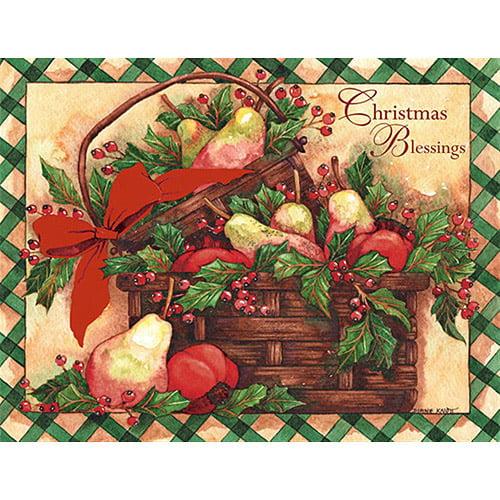 "Lang ""Holiday Basket"" Boxed Christmas Cards"