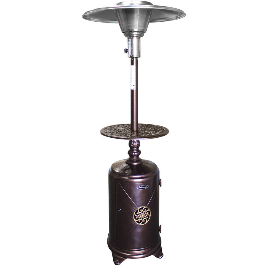 Hiland Round Cast Aluminum Patio Heater with Table by AZ Patio Heaters