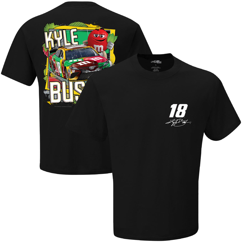 Kyle Busch Joe Gibbs Racing Team Collection Flavor Vote M&M's T-Shirt - Black