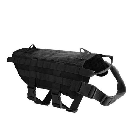 Tactical Dog Training Harness, Nylon Material Durable and Comfortable Adjustable for Training Protecting and Decorating