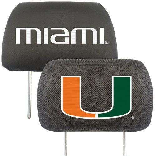 University of Miami Headrest Covers
