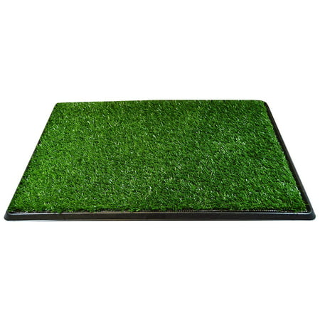 Dog Pee Turf Bathroom Relief System Durable Weather Proof, Synthetic Grass, Housebreaking, Portable, Easy to Clean, Non-Toxic, Perfect for Indoor & Outdoor (20 x 25 inches - 3