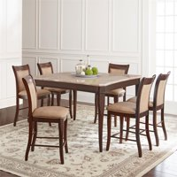 Marseille Marble 9-Piece Counter Height Dining Set