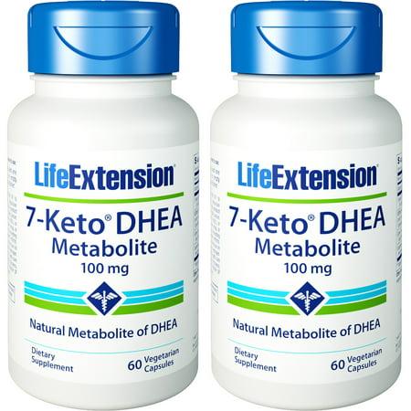 Life Extension 7-céto DHEA métabolites 100 mg 60 Capsules végétarienne 2 Bouteilles
