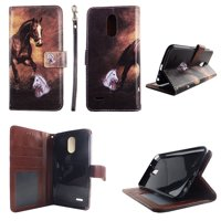 Lovely Design Wallet Folio Case for LG Stylo 3 LS777 Fashion Flip PU Leather Cover Card Cash Slots & Stand